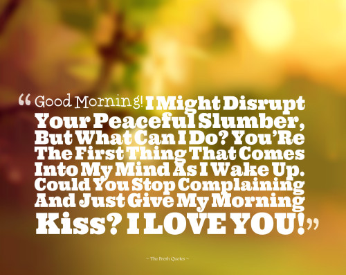 Cute Romantic Good Morning Love Quotes With Beautiful Images