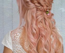 17 top Half Up-Half down Hairstyles for Long Hair for Your Curly Tresses (1)