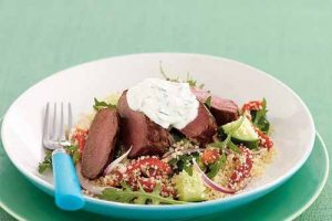 Let's Prepare, The Yummy Greek Lamb Salad With Tzatziki