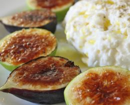 Easiest way to Prepare Summer Appetizer Fig Brulee with Burrata Cheese