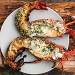 Spicy Grilled Lobster with Cilantro-Chile Butter | Best chile butter recipe