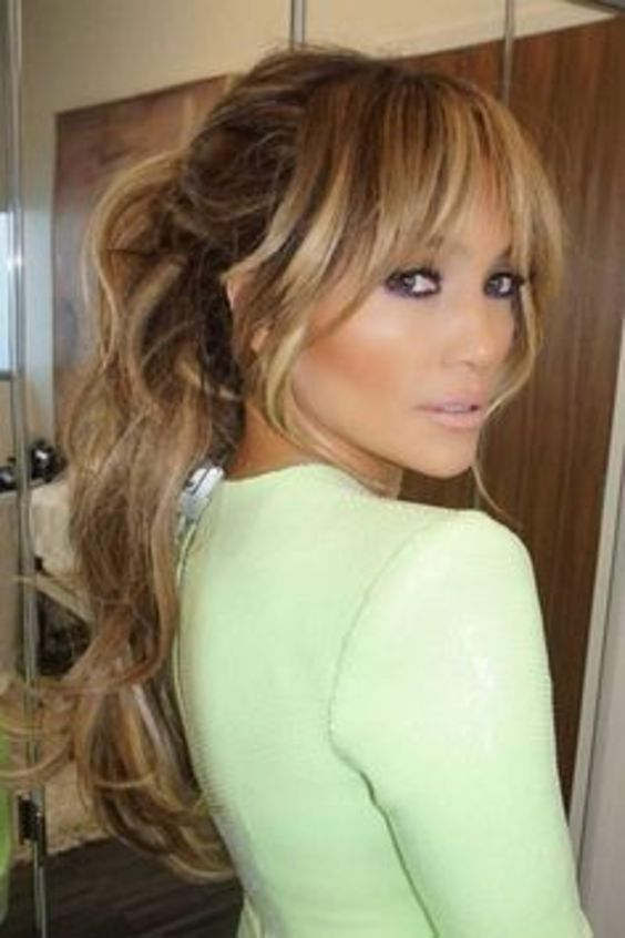 10 Best Long Hairstyles with Fringe for 2020 (10)