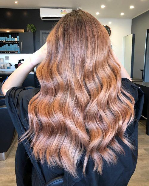 13 lovely Rosy Red Hair Color with Blonde Only For You Don't miss!
