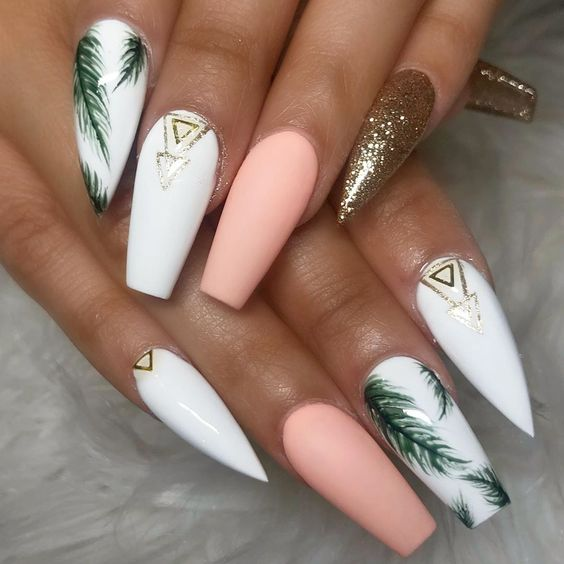 Amazing Beach Nail Designs With French Palm Trees Only For You