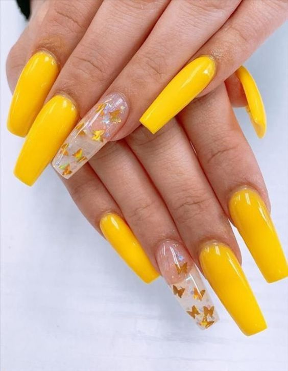 10 Most Eye-Catching Spring Nails Acrylic Coffin (1)