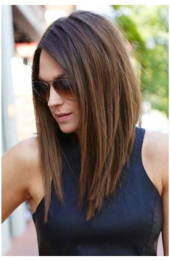 Spring 25 Gorgeous Long Inverted Bob Hairstyles