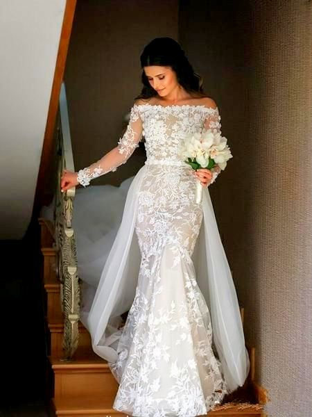 17 Cute And Significant Wedding Gown Mermaid Sleeves Be A Nice Mermaid