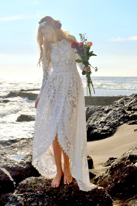 19 Unbelievable Simple Boho Wedding Gown