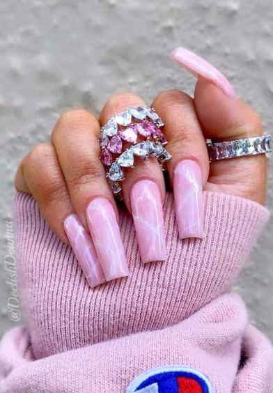 25 Most Eye-Catching Spring Nails Acrylic Coffin