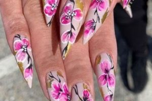 25 Top Spring Nail Art Ideas Cherry Blossoms : Get A Most Attractive In This Spring