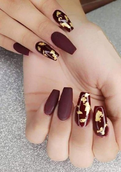 25 Burgundy Color Matte Nail Arts to Rock Your Look!