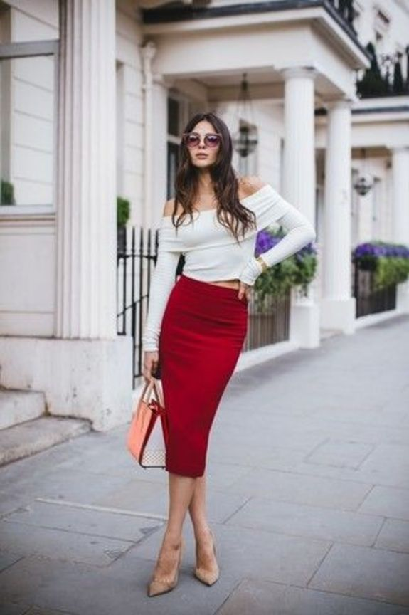 Classy Skirt Outfit For Spring Trend