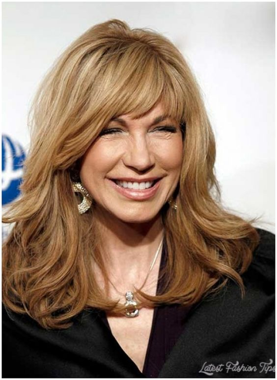 Long Hairstyles With Bangs For Women over 50