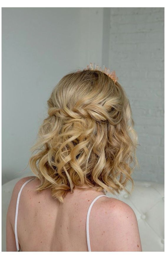 Prom Classy Down Hairstyles For Short Hair